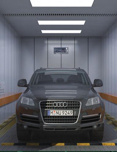 малошумный автомобильный лифт